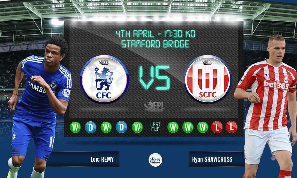 Bóng đá - Chelsea vs Stoke City 23h30, ngày 04/04