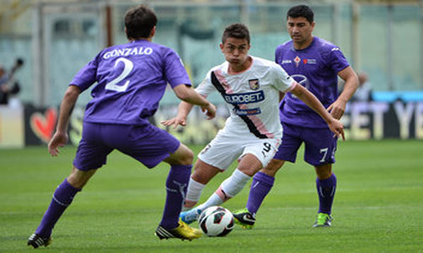 Bng , bng , clip bng  Fiorentina 1-0 Palermo (Highlights vng 37, gii VQG Italia 2012-13)
