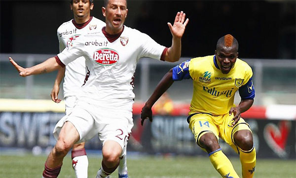 Bng , bng , clip bng  Chievo 1-1 Torino (Highlights vng 37, gii VQG Italia 2012-13)