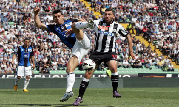 Bng , bng , clip bng  Udinese 2-1 Atalanta (Highlights vng 37, gii VQG Italia 2012-13)