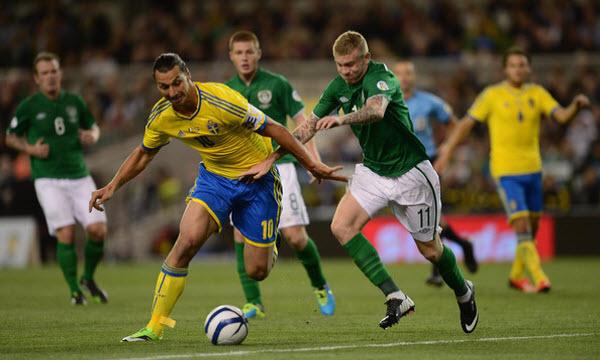 Bóng đá - Thụy Điển vs CH Ireland 22h59, ngày 13/06