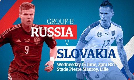 Bóng đá - Link trực tiếp Nga - Slovakia