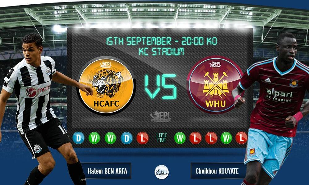 Hull City vs West Ham United: 02h00, ngày 16/09