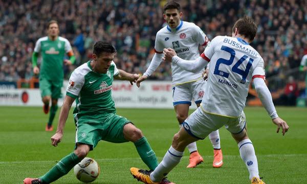Bóng đá - Werder Bremen vs Mainz 05 21h30, ngày 16/12