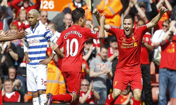 ibongda.vn - Liverpool 1-0 QPR (Highlights vng 38, gii Ngoi Hng Anh 2012-13)