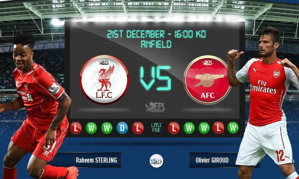 Liverpool vs Arsenal 22h59, ngày 21/12