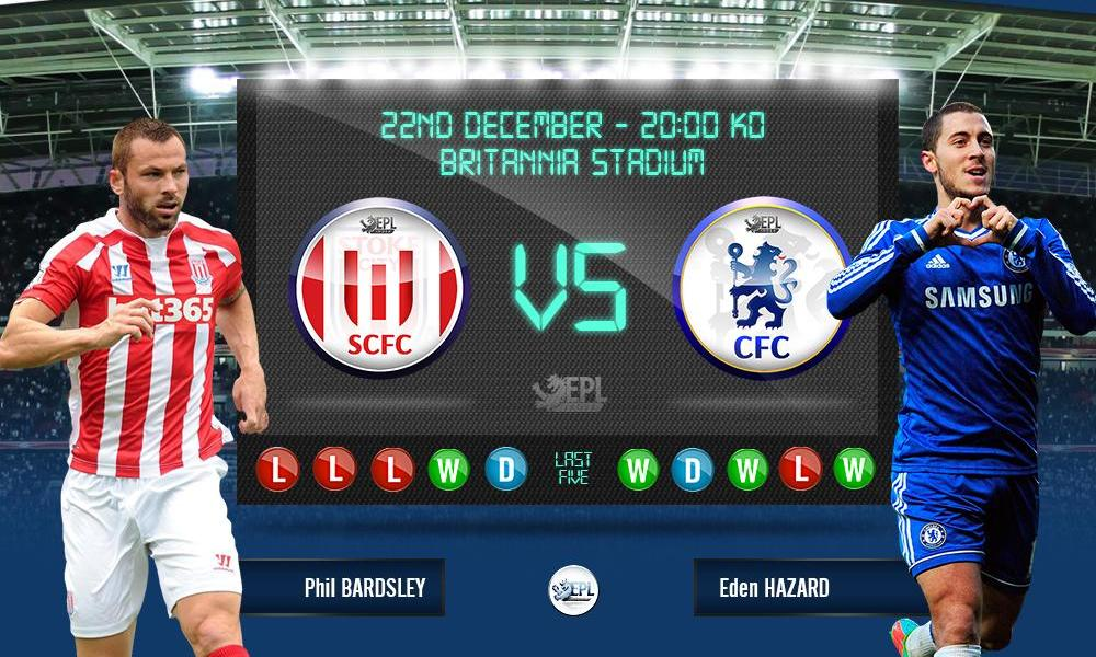 Stoke City vs Chelsea 03h00, ngày 23/12
