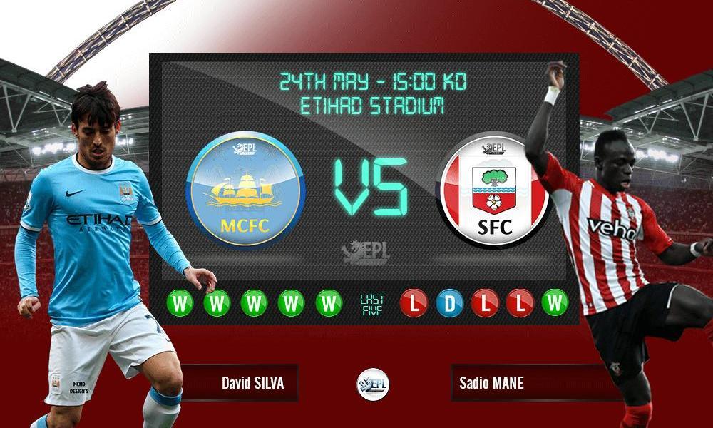 Bóng đá - Manchester City vs Southampton 21h00, ngày 24/05