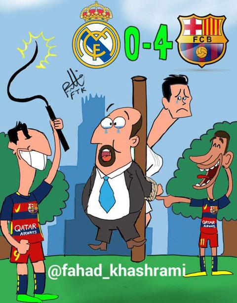 Real bị mang ra làm trò hề trên mạng xã hội sau trận thua Barca