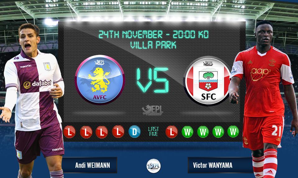 Bóng đá - Aston Villa vs Southampton 03h00, ngày 25/11