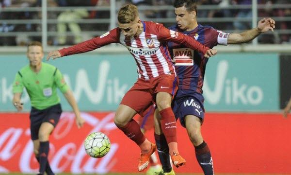 Bóng đá - Eibar vs Atletico Madrid 01h15, ngày 26/01