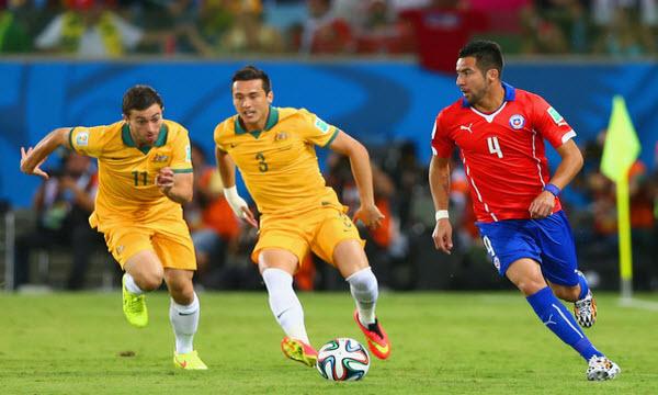 Bóng đá - Australia vs Chile 22h00, ngày 25/06
