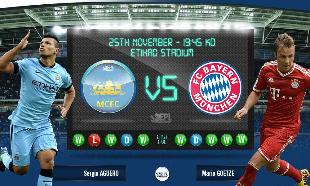 Manchester City vs Bayern Munich 02h45, ngày 26/11