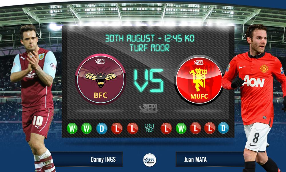 Burnley vs Manchester United: 18h45, ngày 30/08