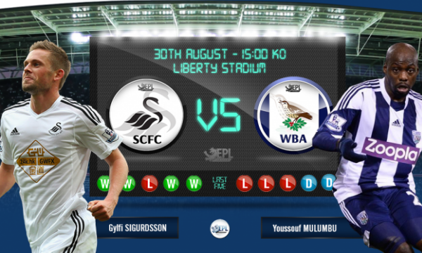 Swansea City vs West Bromwich: 21h00, ngày 30/08
