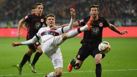 Bóng đá - Bayern đứt mạch toàn thắng ở Frankfurt