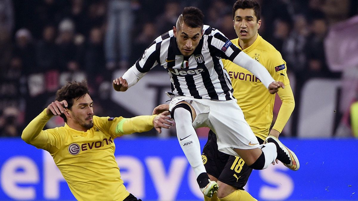Borussia Dortmund 0 - 3 Juventus (Cúp C1 Champions League 2014-2015, vòng 1/8 Final)