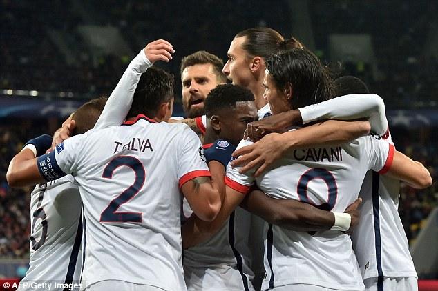 Shakhtar Donetsk 0 - 3 Paris Saint Germain (Cúp C1 Champions League 2015-2016, vòng bảng)
