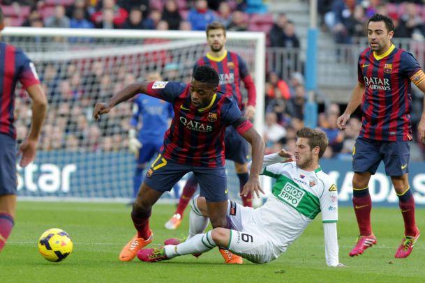 Elche 0 - 3 Barcelona (Cup Nhà Vua Tây Ban Nha 2014-2015, vòng )
