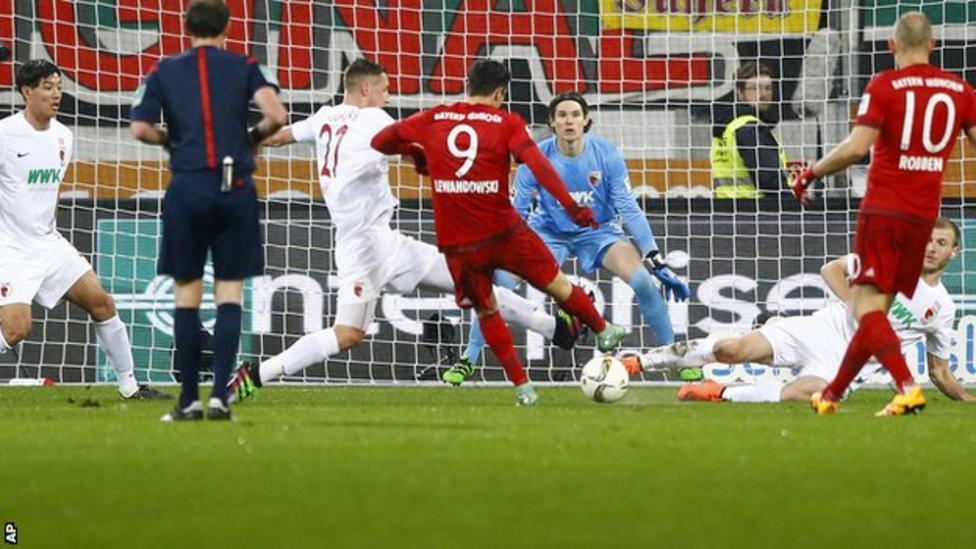 Augsburg 1 - 3 Bayern Munich (Đức 2015-2016, vòng 21)