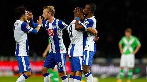 Hertha Berlin 3 - 0 Hamburger (Đức 2015-2016, vòng 8)
