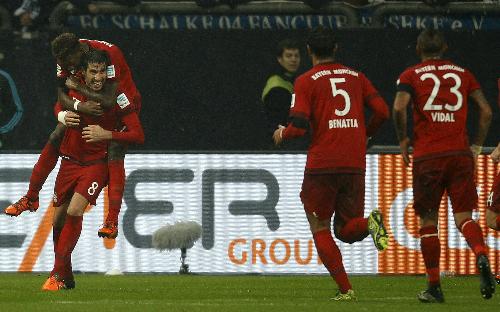 Schalke 04 1 - 3 Bayern Munich (Đức 2015-2016, vòng 13)