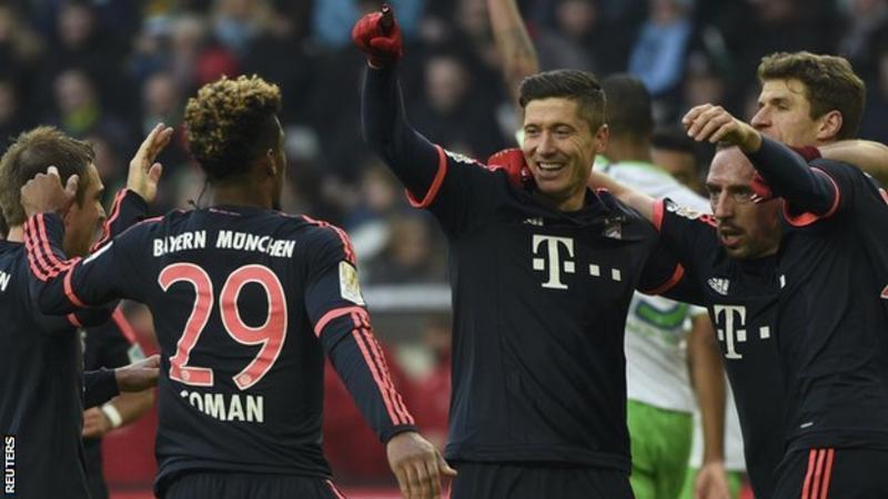 Wolfsburg 0 - 2 Bayern Munich (Đức 2015-2016, vòng 23)