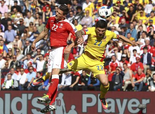 Romania 1 - 1 Thụy Sỹ (Euro 2014-2016, vòng bảng)