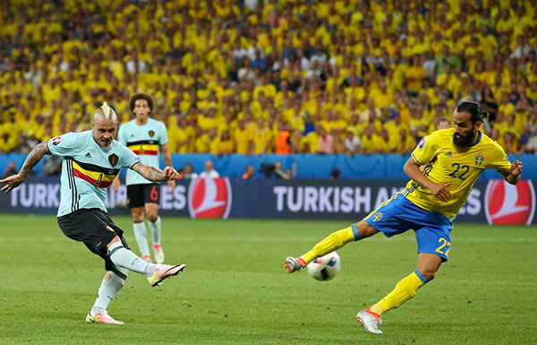 Thụy Điển 0 - 1 Bỉ (Euro 2014-2016, vòng bảng)