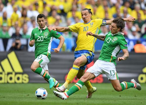 Thụy Điển 1 - 1 CH Ireland (Euro 2016, vòng )