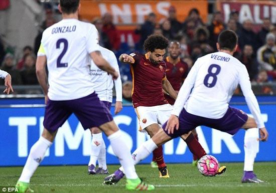 AS Roma 4 - 1 Fiorentina (Italia 2015-2016, vòng 28)