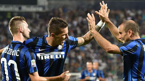 Carpi 1 - 2 Inter Milan (Italia 2015-2016, vòng 2)