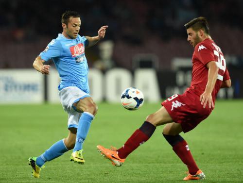 Napoli 3 - 3 Cagliari (Italia 2014-2015, vòng 12)