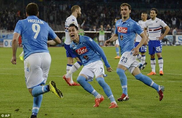 Napoli 2 - 2 Sampdoria (Italia 2015-2016, vòng 2)