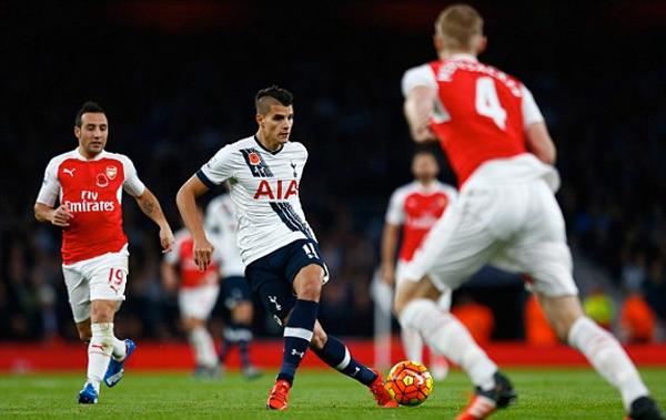 Arsenal 1 - 1 Tottenham Hotspur (Ngoại Hạng Anh 2015-2016, vòng 12)