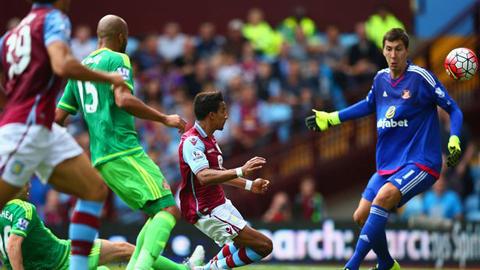 Aston Villa 2 - 2 Sunderland (Ngoại Hạng Anh 2015-2016, vòng 4)
