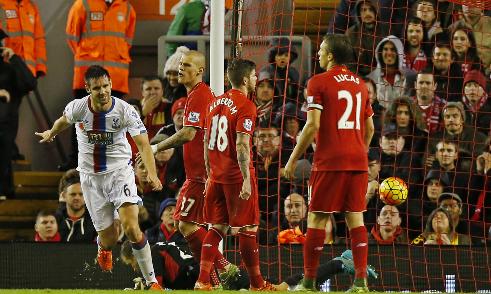 Liverpool 1 - 2 Crystal Palace (Ngoại Hạng Anh 2015-2016, vòng 12)