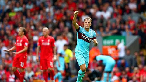 Liverpool 0 - 3 West Ham United (Ngoại Hạng Anh 2015-2016, vòng 4)
