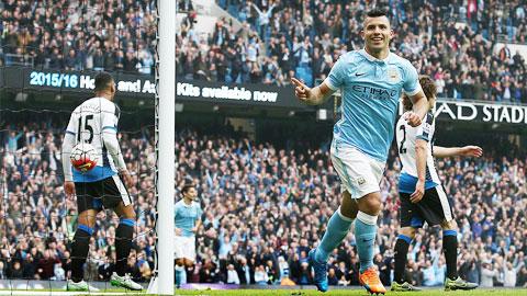 Manchester City 6 - 1 Newcastle United (Ngoại Hạng Anh 2015-2016, vòng 8)