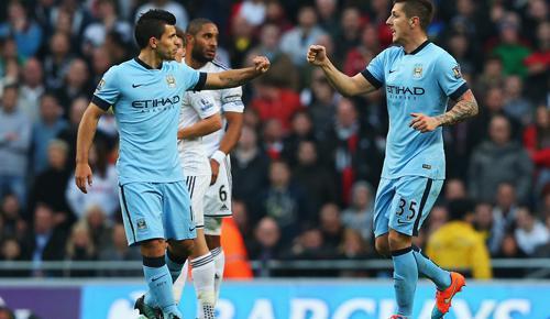 Manchester City 2 - 1 Swansea City (Ngoại Hạng Anh 2014-2015, vòng 12)