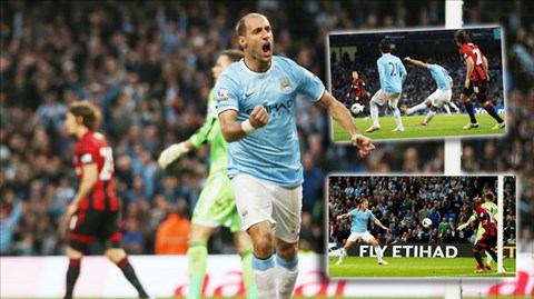 Manchester City 3-1 West Bromwich (English Premier League 2013-2014, round 35)
