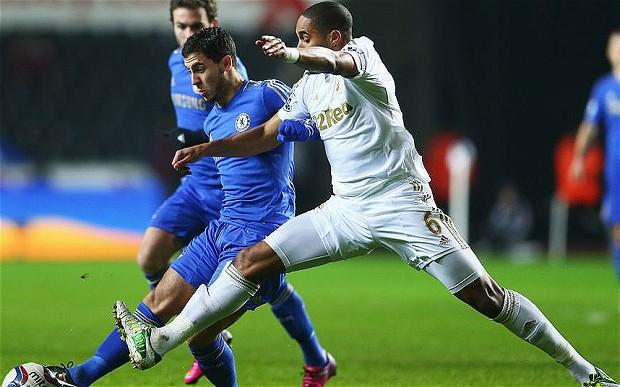 Swansea City 0 - 5 Chelsea (Ngoại Hạng Anh 2014-2015, vòng 22)