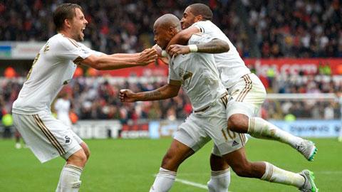 Swansea City 2 - 1 Manchester United (Ngoại Hạng Anh 2015-2016, vòng 4)