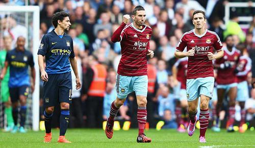 West Ham United 2 - 1 Manchester City (Ngoại Hạng Anh 2014-2015, vòng 9)