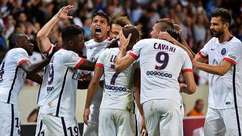 Lille 0 - 1 Paris Saint Germain (Pháp 2015-2016, vòng 1)