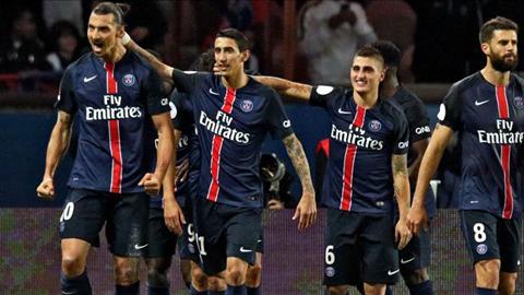 Paris Saint Germain 2 - 1 Marseille (Pháp 2015-2016, vòng 9)