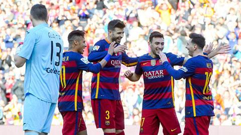 Barcelona 6 - 0 Getafe (Tây Ban Nha 2015-2016, vòng 29)