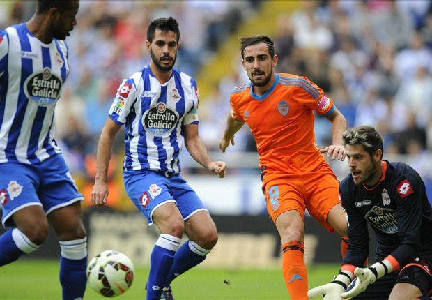 Deportivo La Coruna 3 - 0 Valencia (Tây Ban Nha 2014-2015, vòng 8)