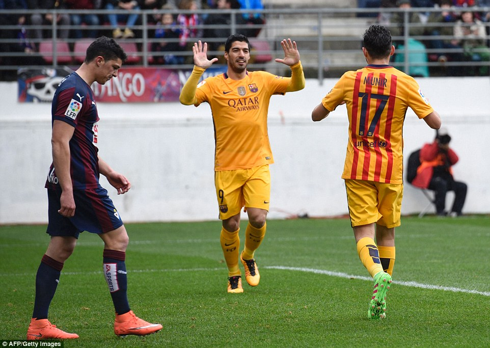 Eibar 0 - 4 Barcelona (Tây Ban Nha 2015-2016, vòng 28)