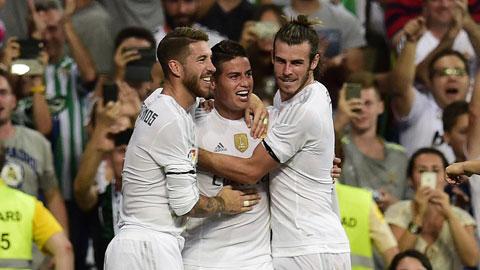 Real Madrid 5 - 0 Real Betis (Tây Ban Nha 2015-2016, vòng 2)